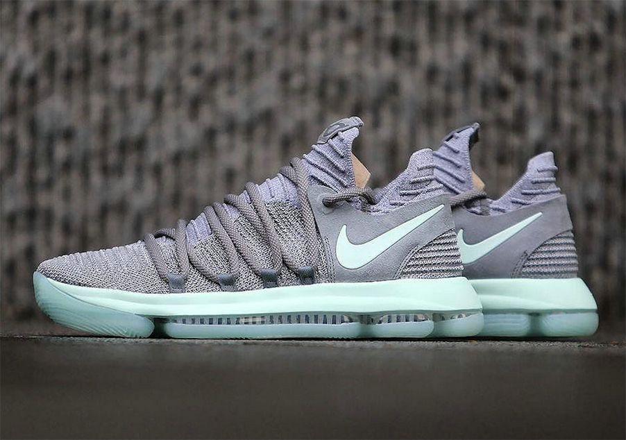 56242fa1a40b Nike KD 10 Cool Grey Igloo-White