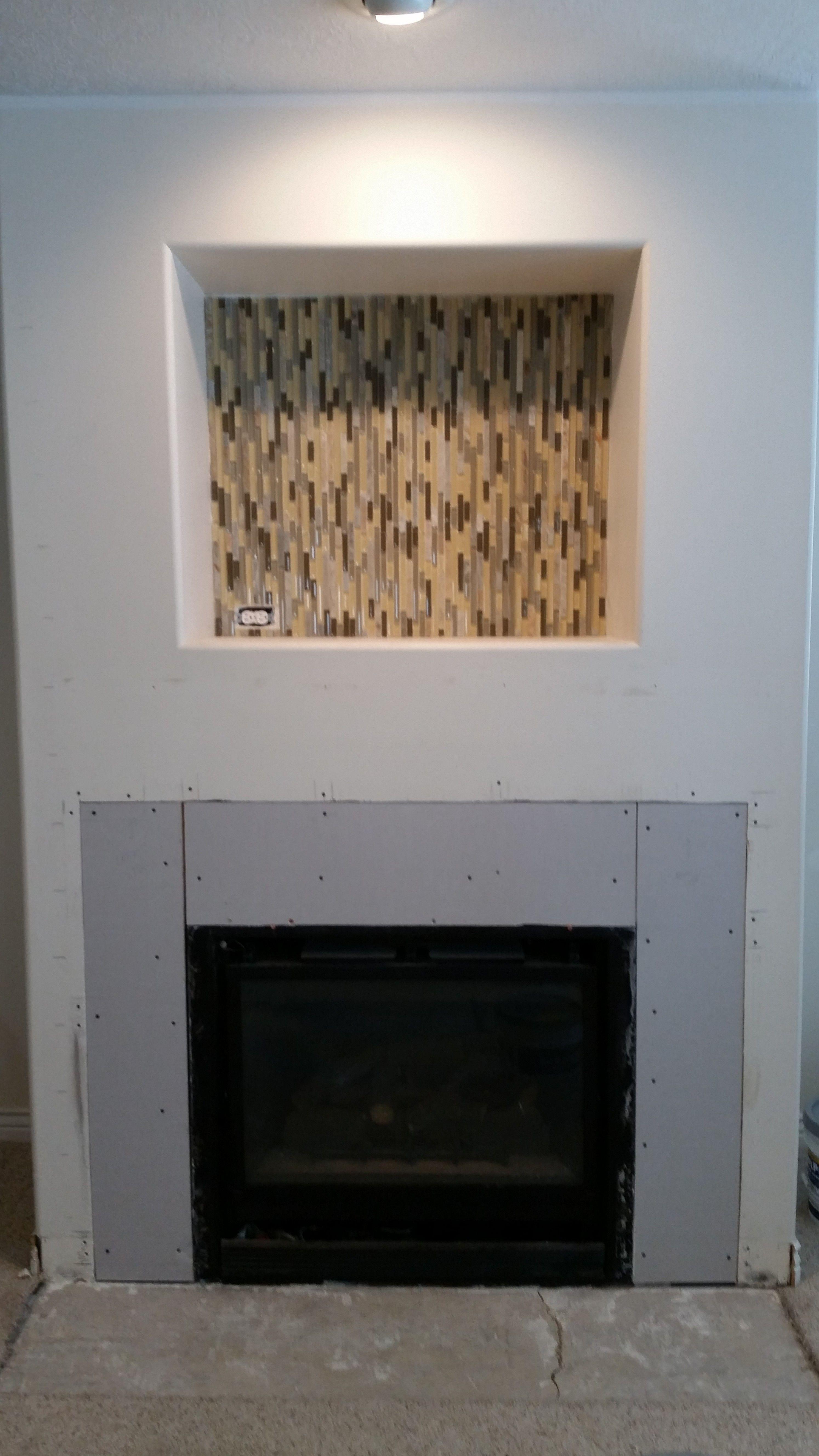 glass tile mosaic inside with matching quartz basement stone rh pinterest com