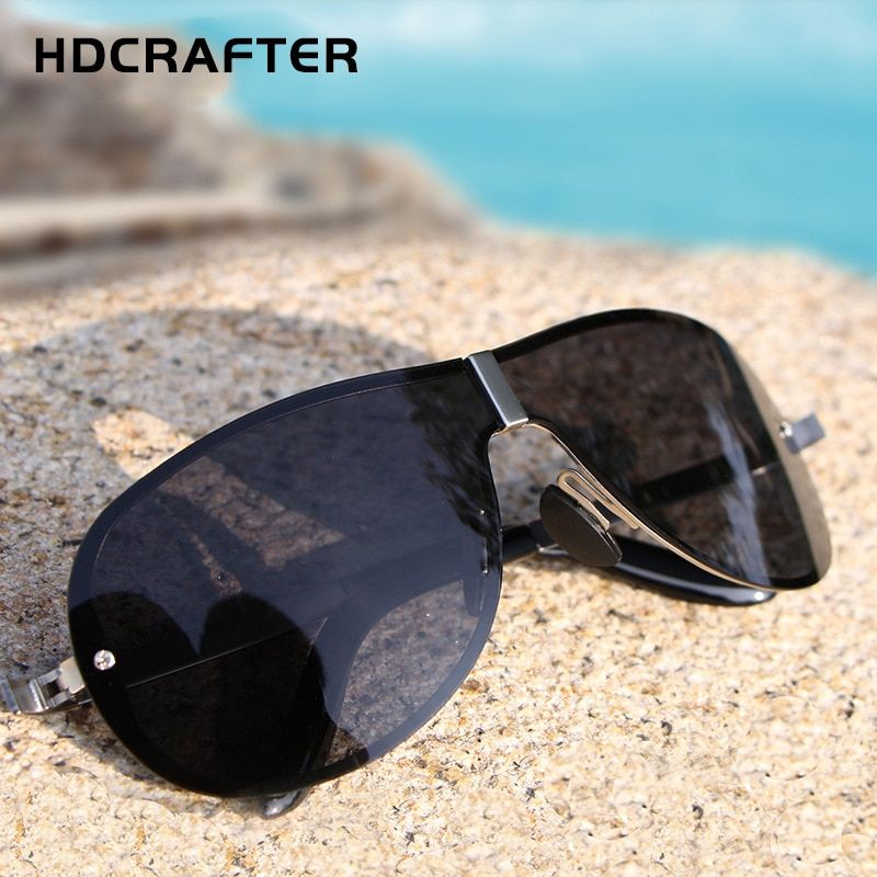 6629ac8089 HDCRAFTER Square Brand Designer Sunglasses Men Polarized Man Polaroid Sun  Glasses Male Night Vision Driving UV400 2018 Oculos De Review