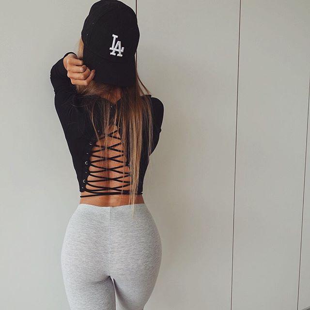 Lace Up T Shirt, Fashion