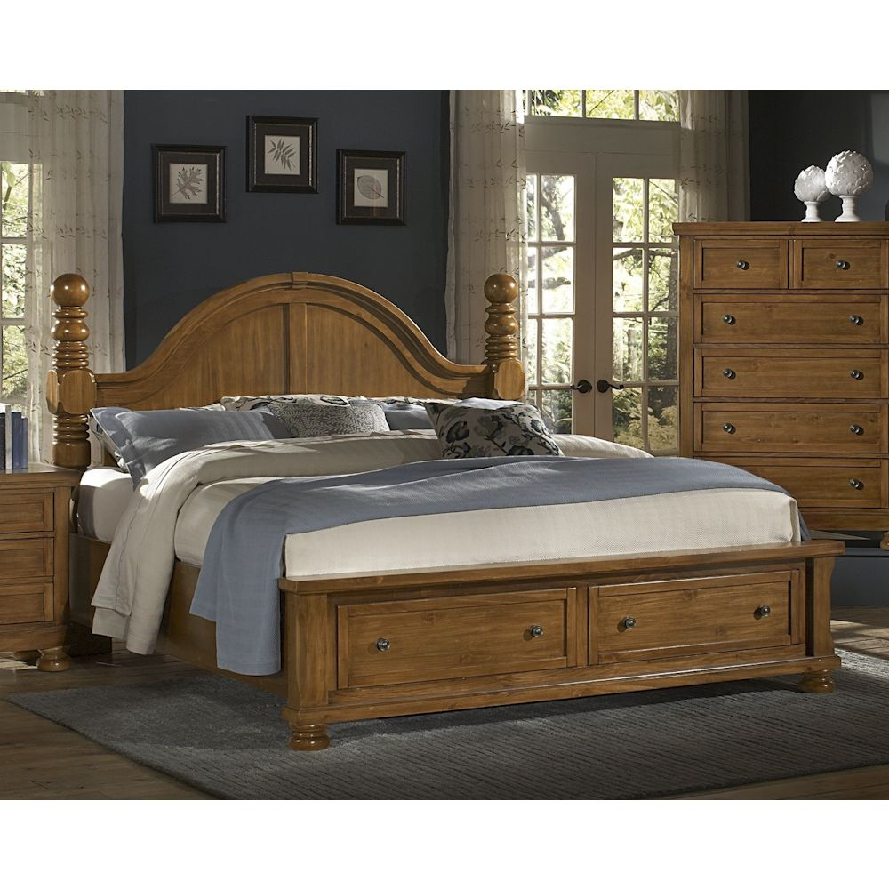 Reflections Pine Bedroom King Mansion Storage BedQueen avail