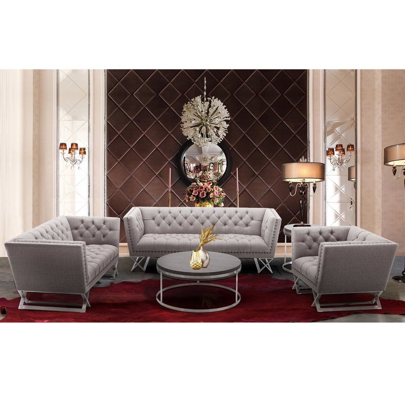 Borchert Contemporary Chesterfield Sofa in 2019 | Grey ...