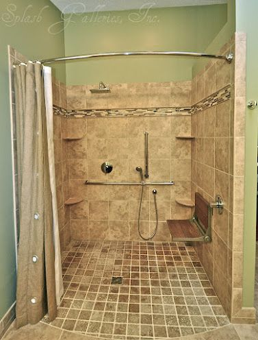 Handicapped Accessible Shower | Adaptive Equipment | Pinterest ...