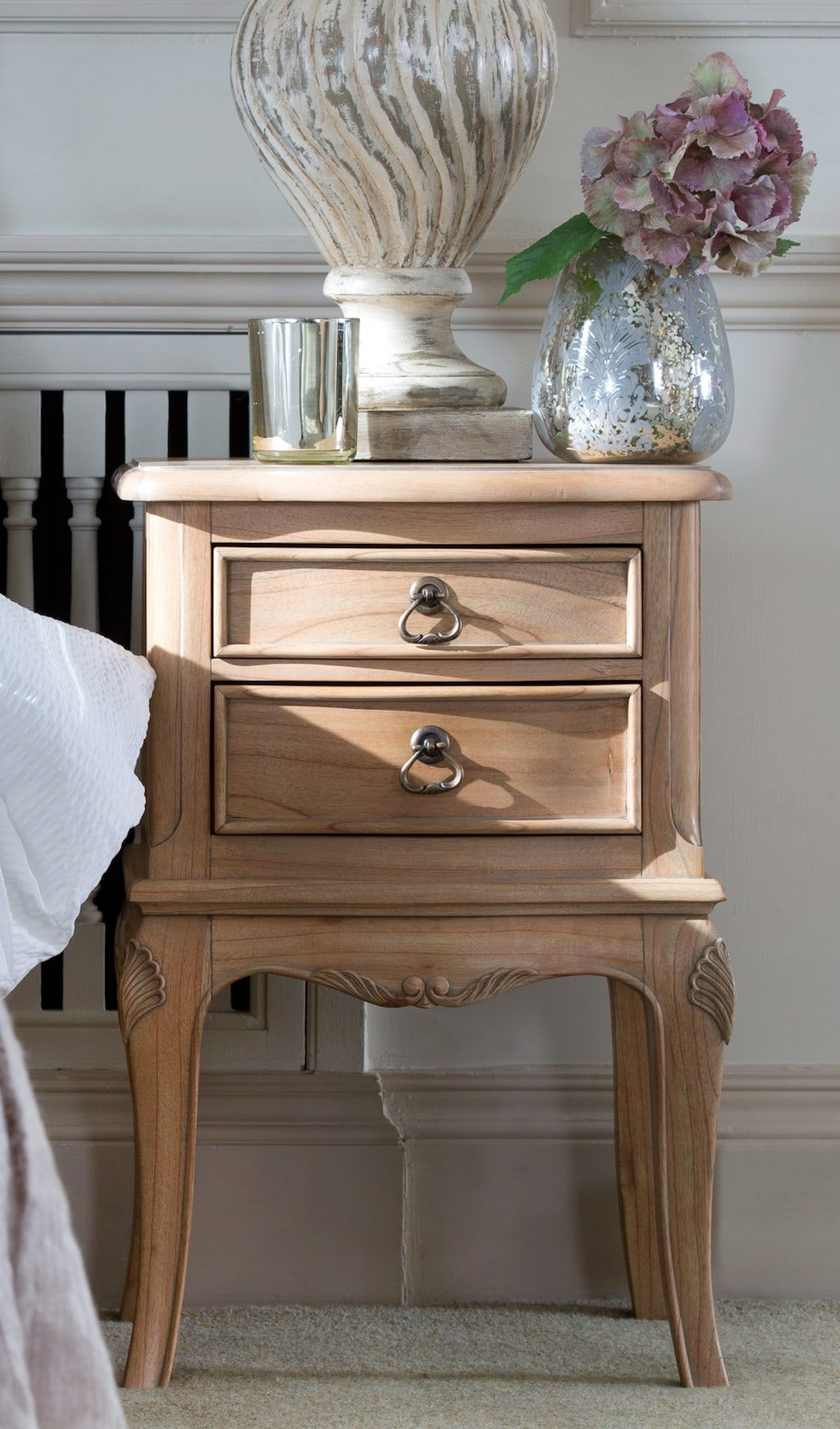 Avignon French Mindy Wood Bedside Table Love Home Living