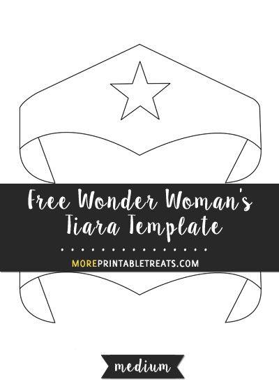 Free Wonder Woman S Tiara Template Medium Size Wonder Woman