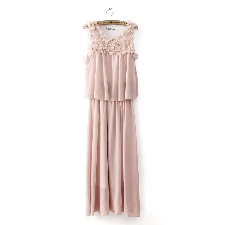 lace pleated solid color dress