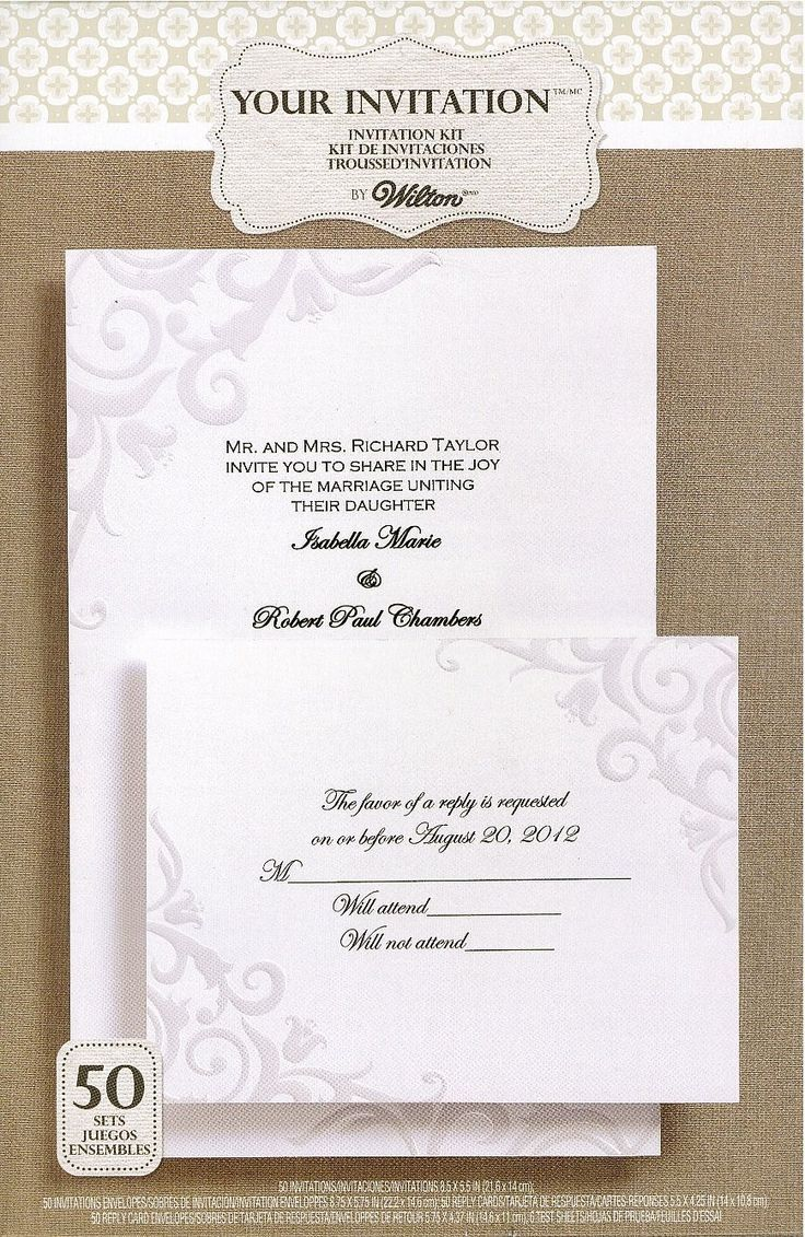 wilton wedding invitations Since the wedding is not a single minute