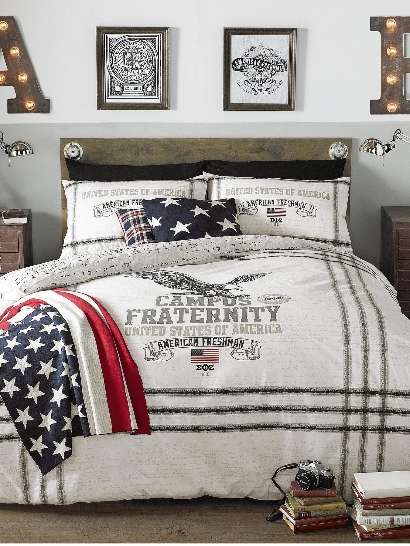 American Freshman Eagle Duvet Cover and Pillowcase