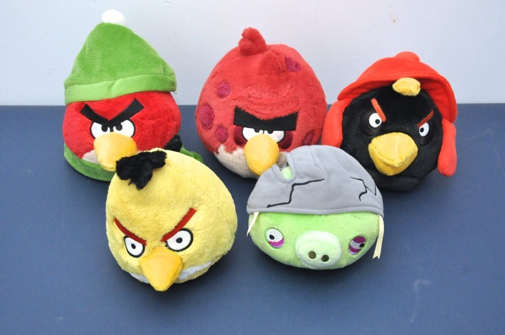 Lot Of 5 Rare Angry Birds Plush Dolls Toys Angry Bird Plush