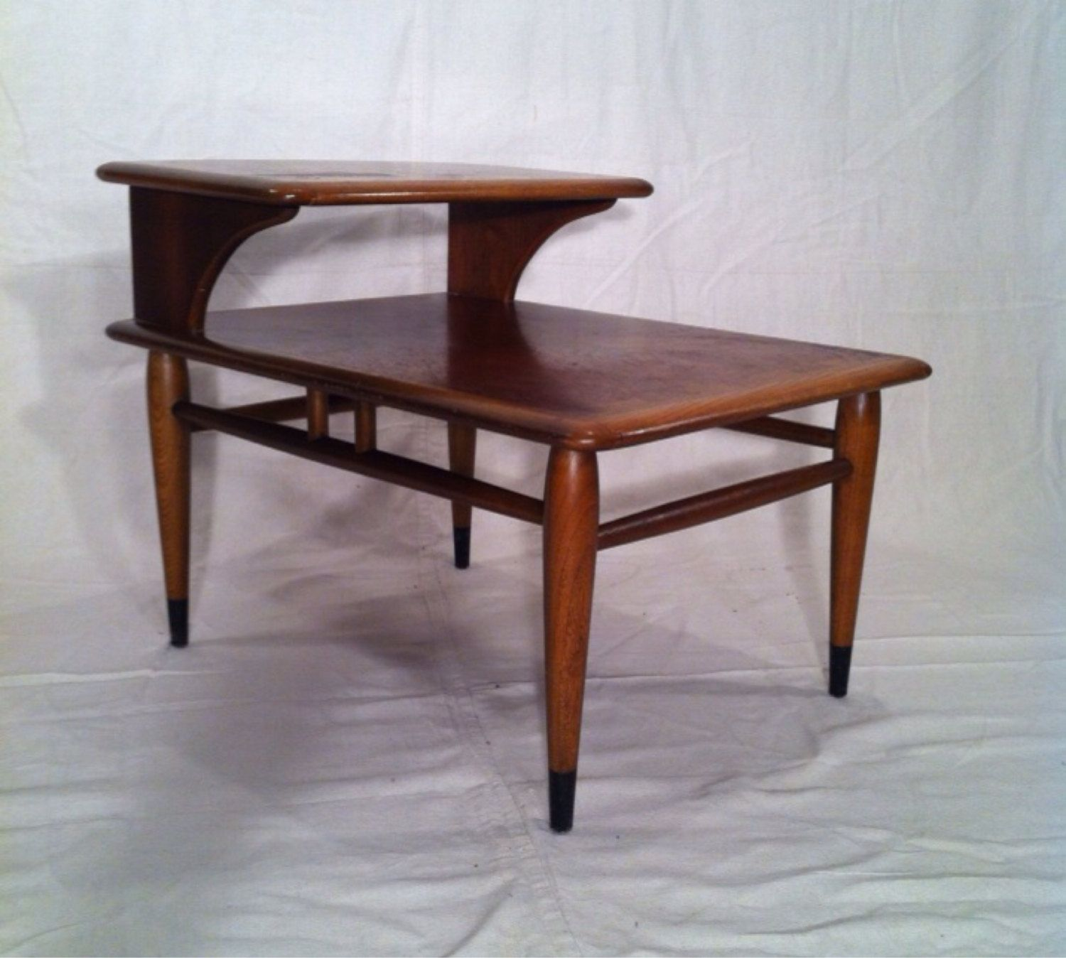 Mid Century Modern Two Tier Lane Side Table By Asburyparkvintage On Etsy