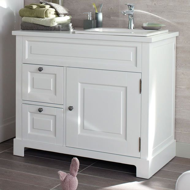Modele Cottage L 100 Cm Meuble Salle De Bain Mobilier De Salon Meuble Sous Vasque