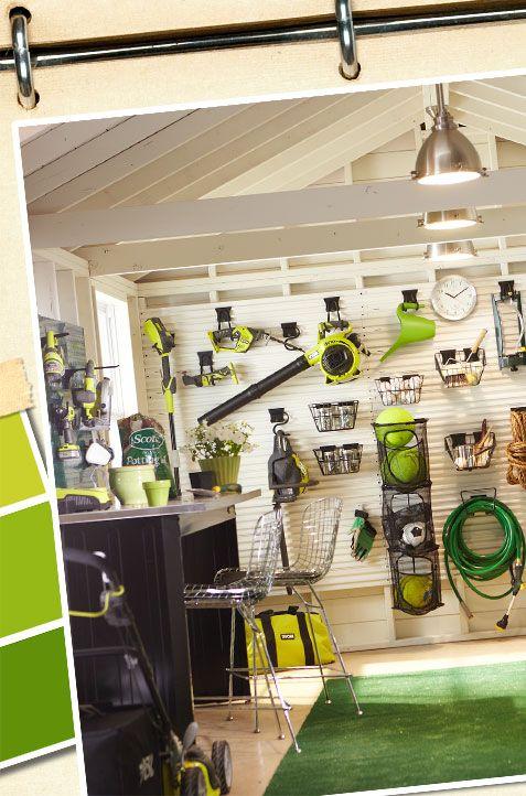 his man tools her gardening gizmos organize your garage space rh pinterest com