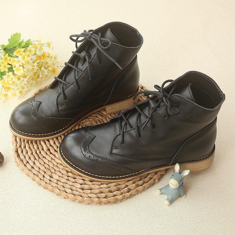 Black Elegant Sweet Low Heels Martin Boots SP168248