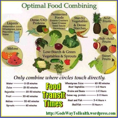 God S Way To Health Food Combining Chart Food Combining Food Pairings