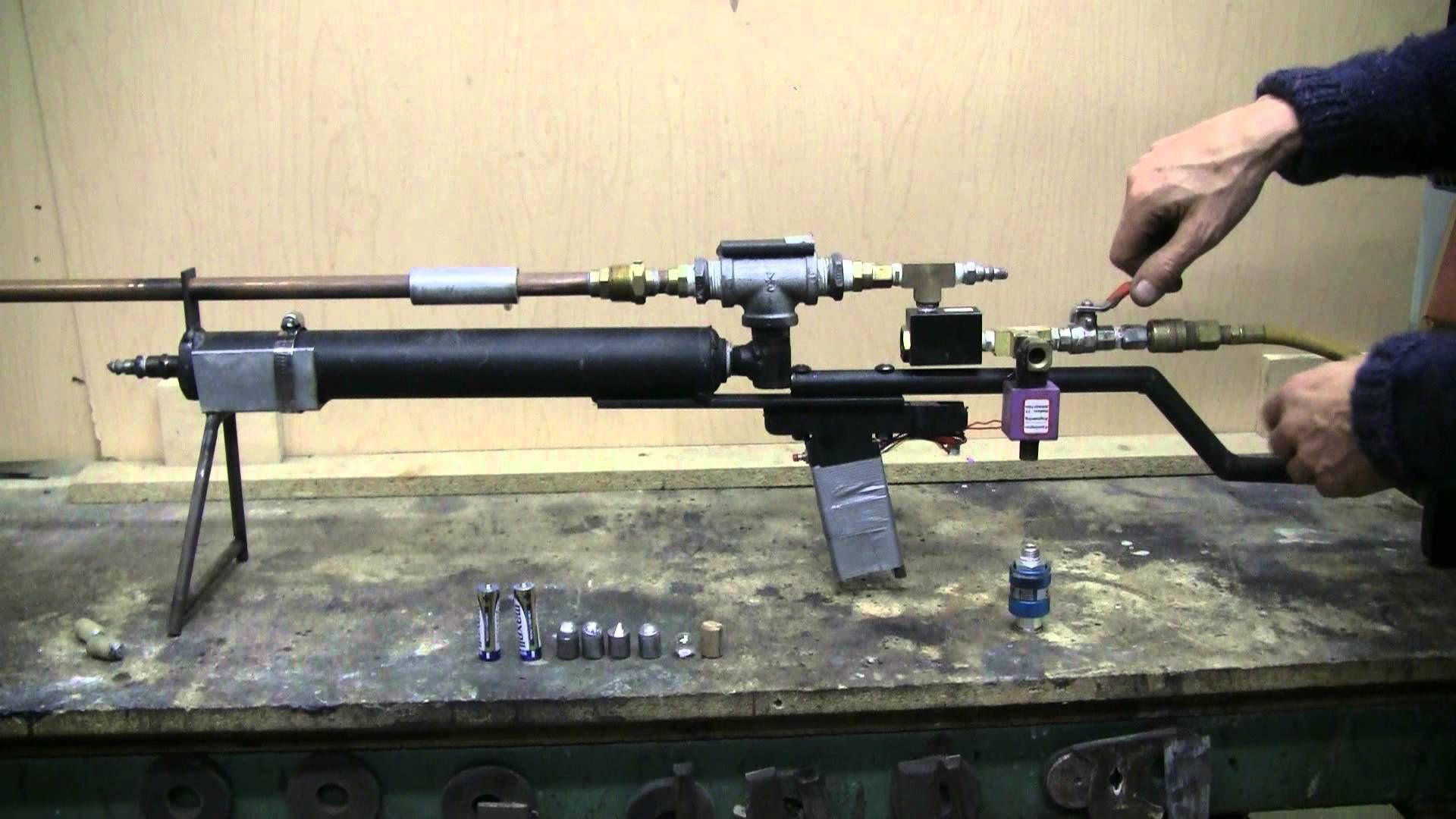 diy big bore air rifle mods and test youtube air vacuum cannon rh pinterest com