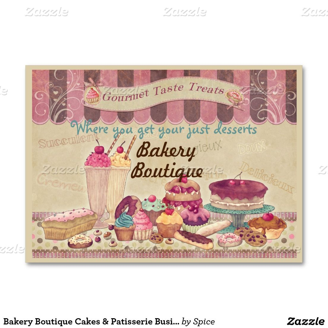 Bakery Boutique Cakes & Patisserie Business Card | Business Cards ...