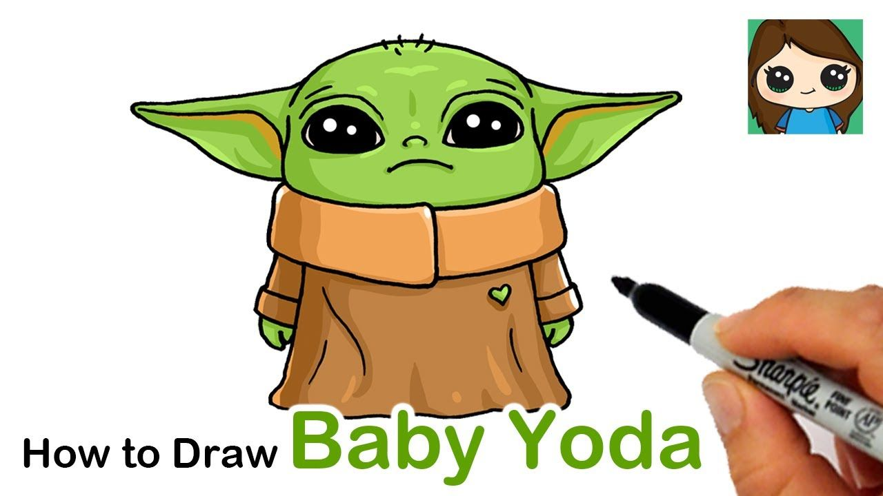 How To Draw Yoda Baby Yoda Drawing Star Wars Drawings Yoda Art