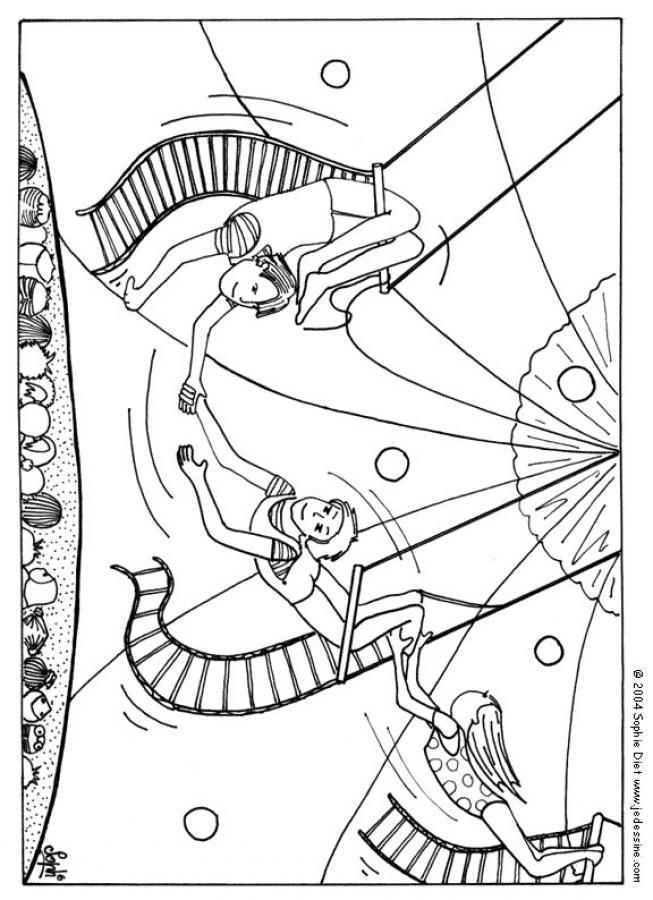 Kleurplaten Circus Trapezes.Circus Animals Coloring Sheet Google Search Circus