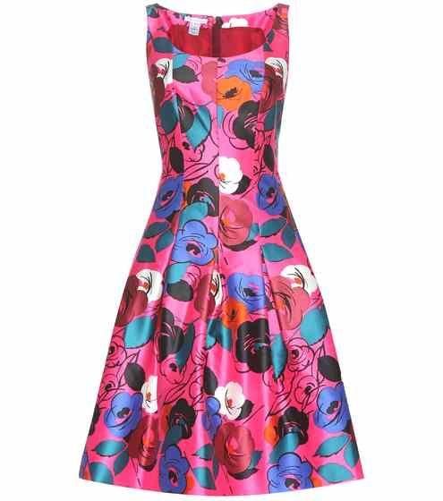 Printkleid aus Seide und Baumwolle | Oscar de la Renta