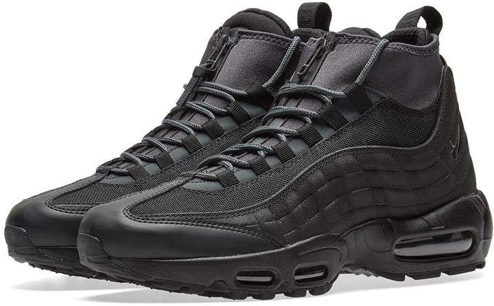 Mode Nike Air Max 95 Sneakerboot 806809 001 Schwarz Sneakers