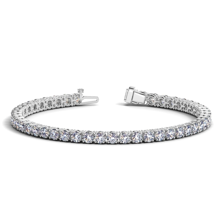 K white gold round diamond tennis bracelet ct tw products