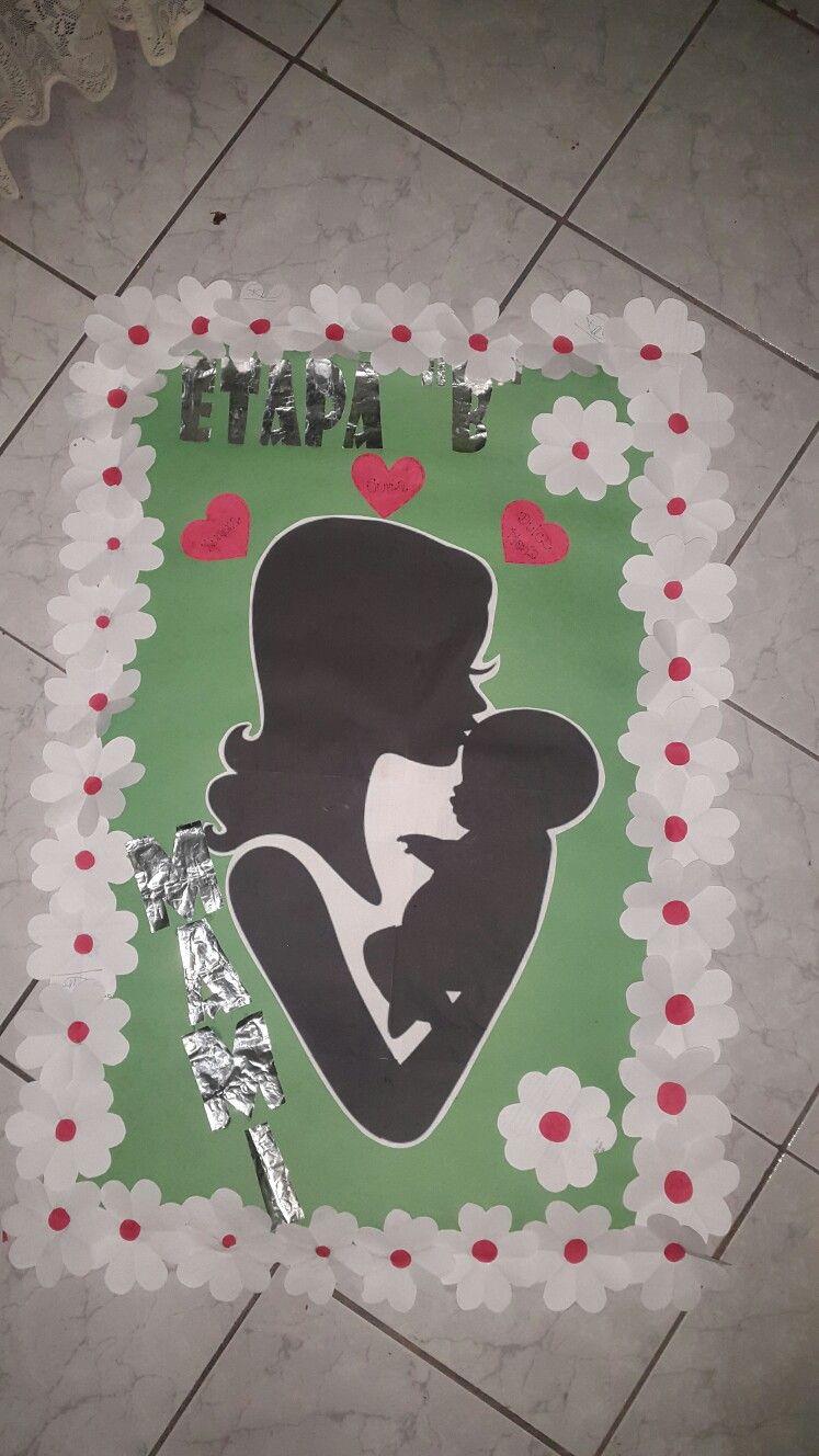 Peri dico mural d a de la madre trabajos en papel de for Puertas decoradas para el 10 de mayo
