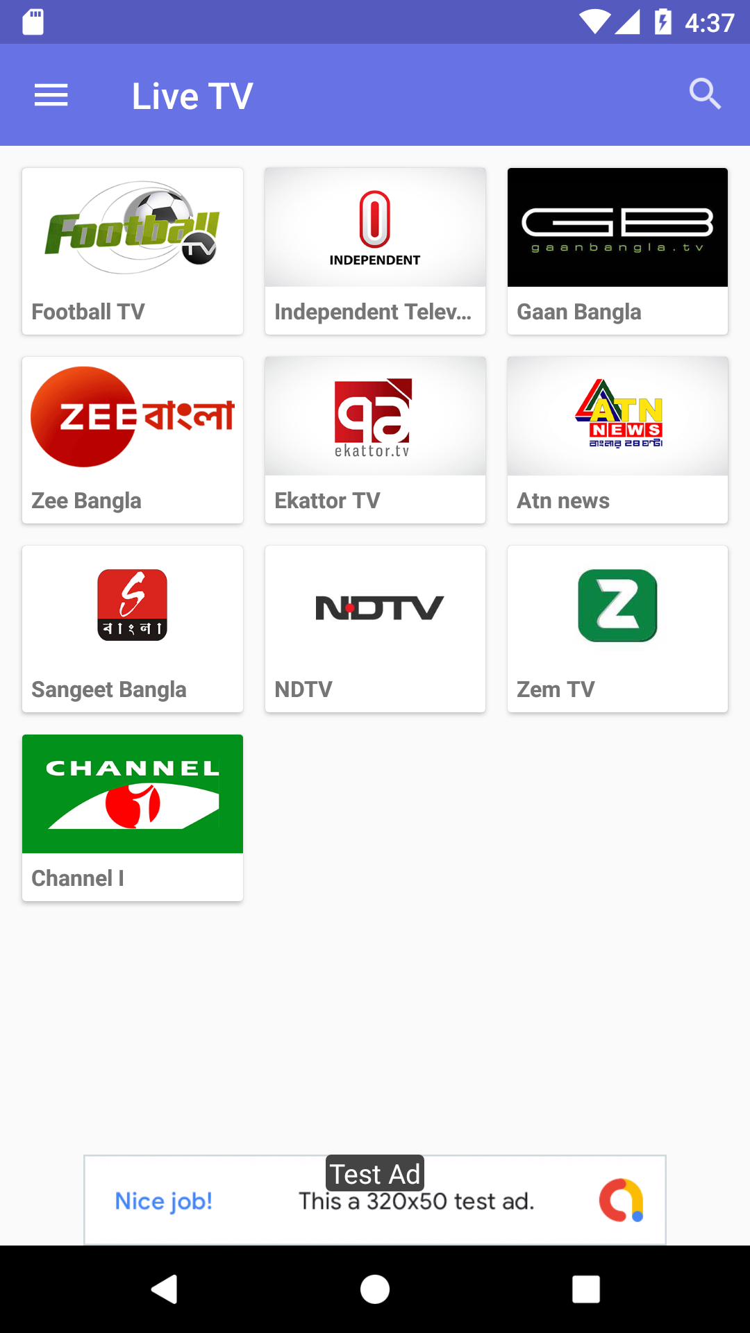OXOO - Android Live TV & Movie Portal App with Powerful