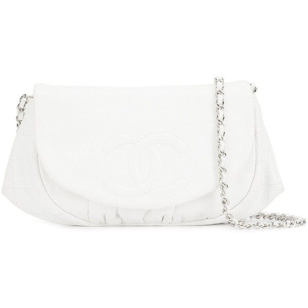 Preowned Chanel Vintage half moon chain wallet (166.400