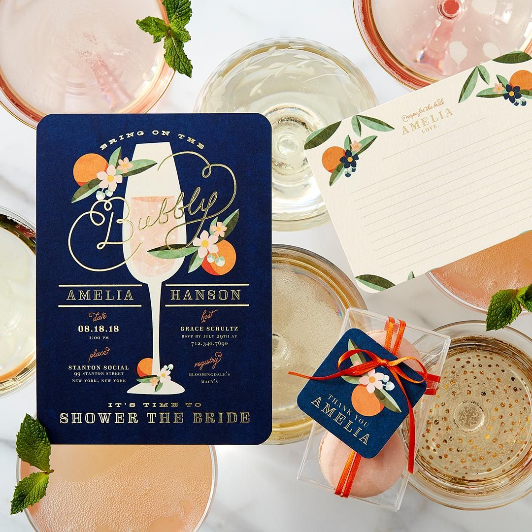 inexpensive wedding shower invitations%0A Gather friends with our freshly squeezed bridal shower invitations