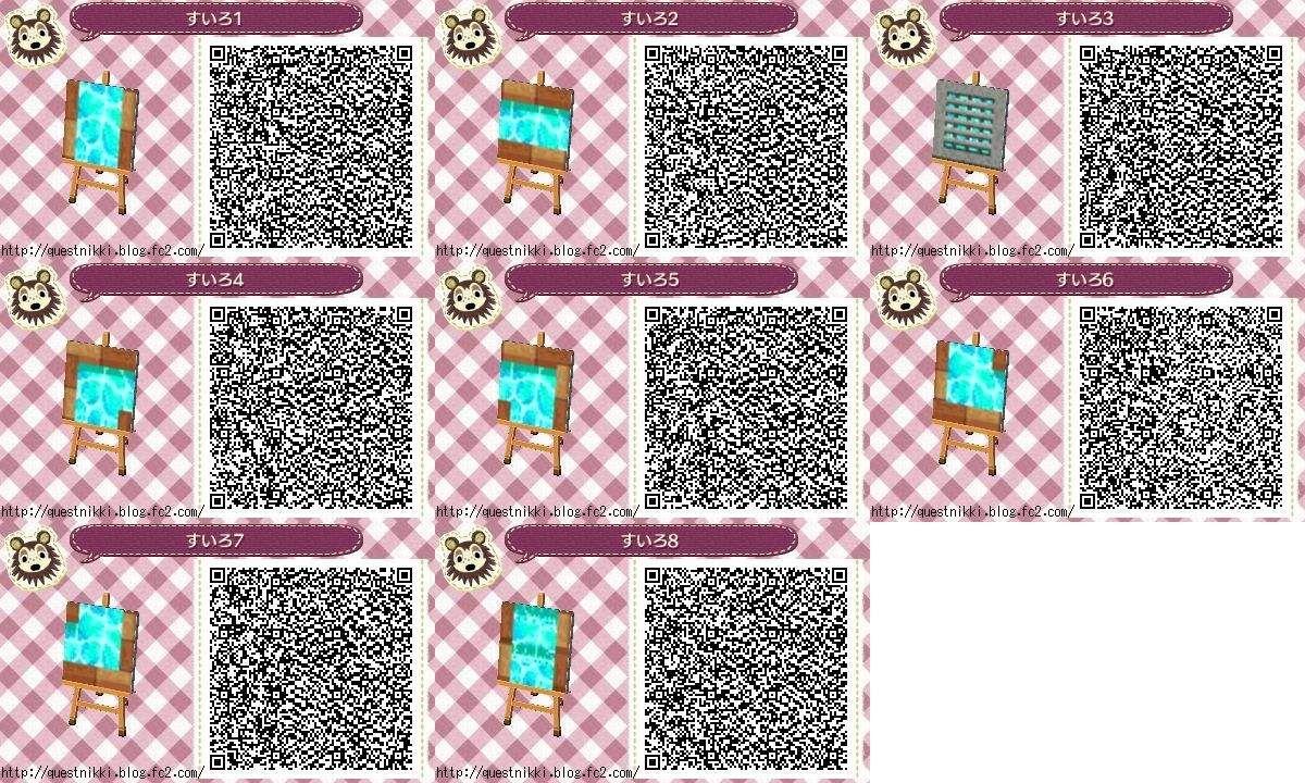 Animal Crossing New Leaf Water Path Qr Codes