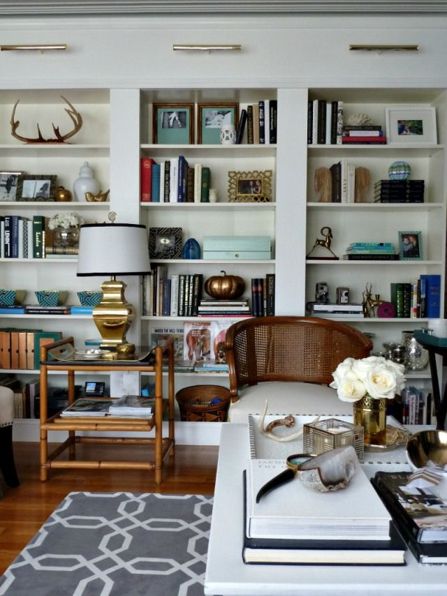 living room wall cabinets built%0A Eclectic Home Tour  Bliss at Home