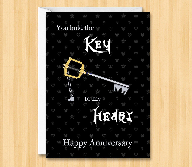 Kingdom Hearts Anniversary Card Kh Anniversary Card Kingdom Etsy Anniversary Cards Kingdom Hearts Love Cards