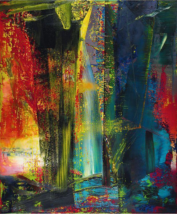 kunstkompass die 10 wichtigsten kunstler unserer zeit gerhard richter painting abstract art abstrakte bilder rot orange 120x80 abstrakt