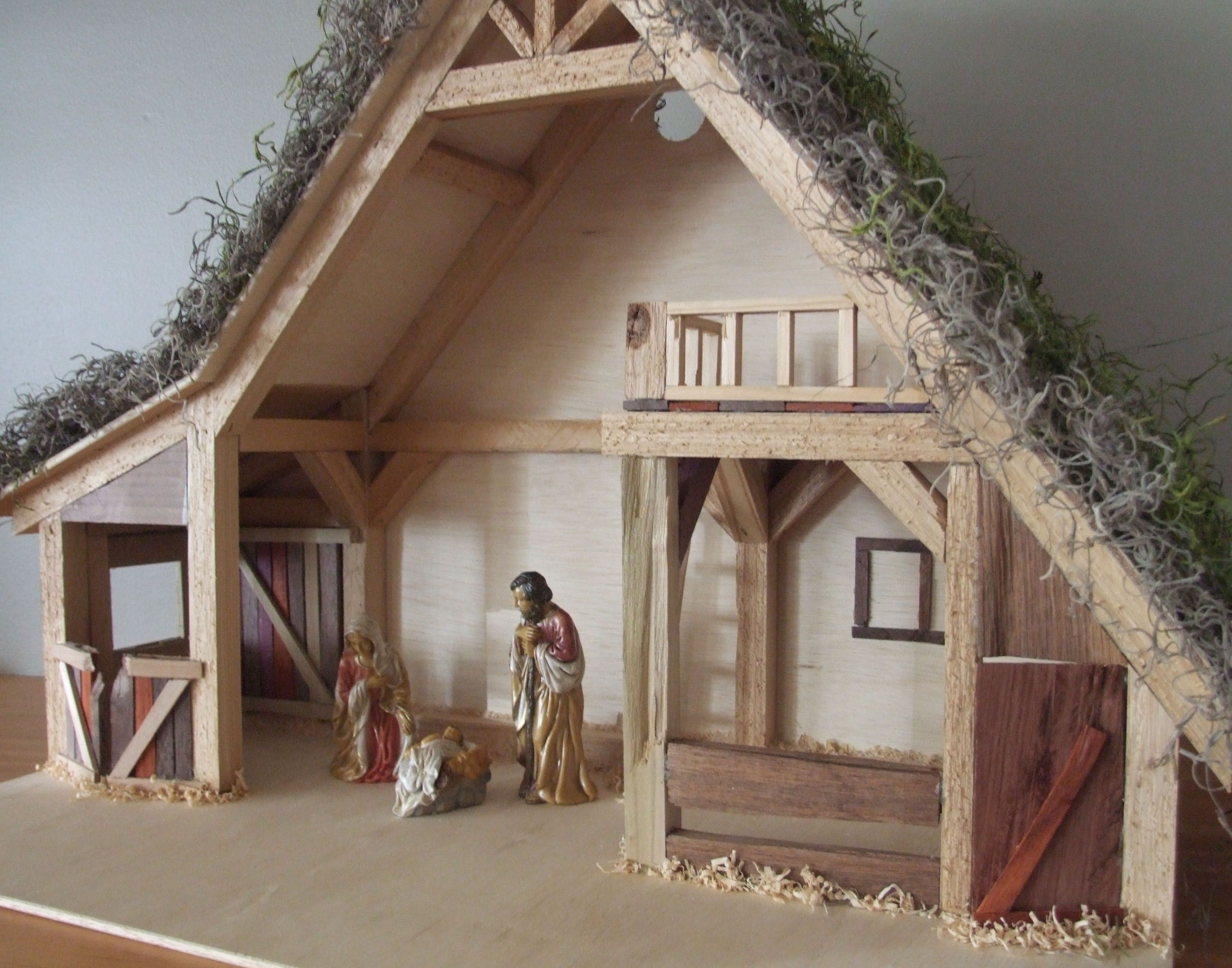 Image result for nativity stable plans | Nativity stable ...