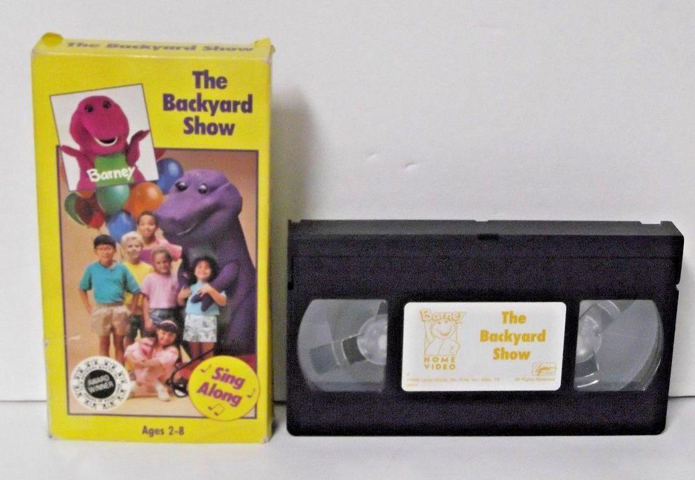 Barney The Backyard Show Vhs 1988 - House Backyards