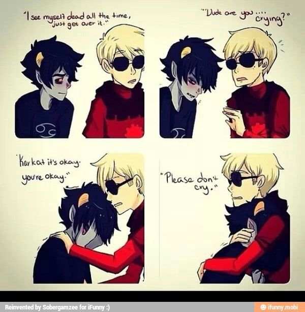 dave and karkat sadstuck homestuck pinterest homestuck