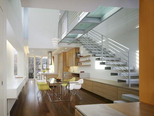narrow row house interior design   house designs
