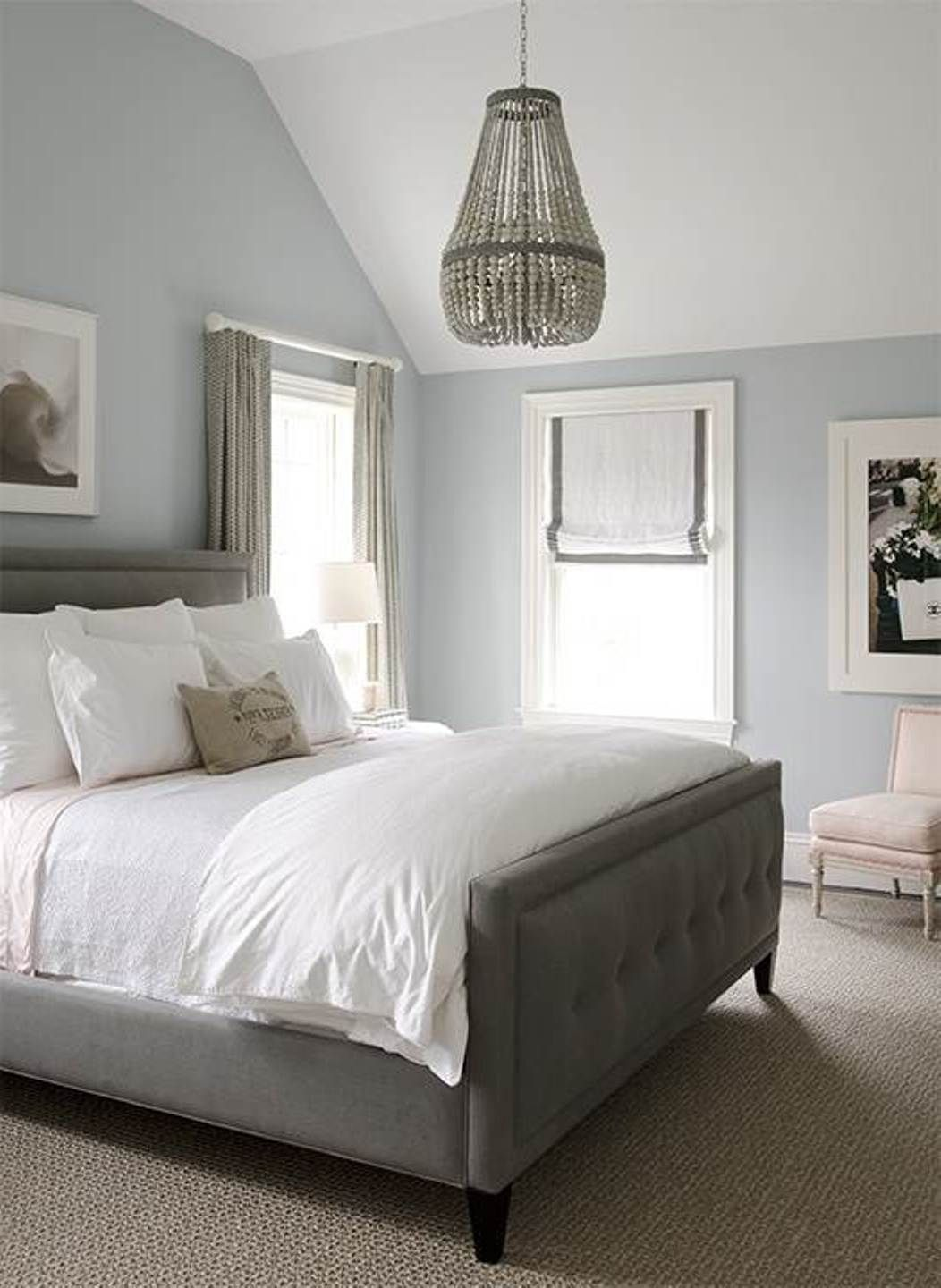 love the grey. cute master bedroom ideas on a budget : decorating