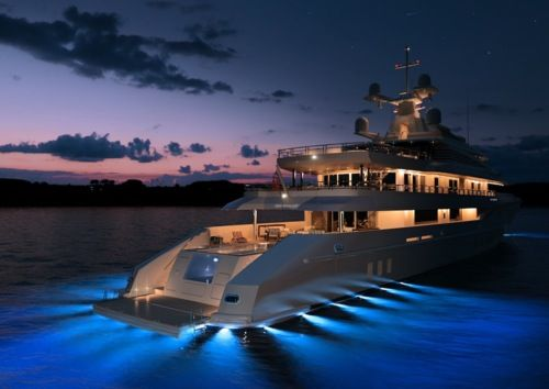 Yacht with a genius lighting design.