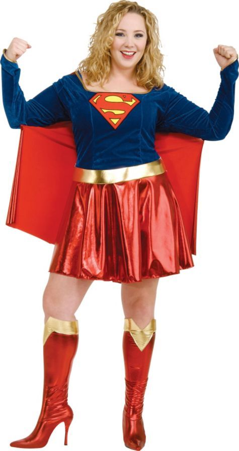adult classic supergirl costume plus size party city - All Halloween Costumes Party City
