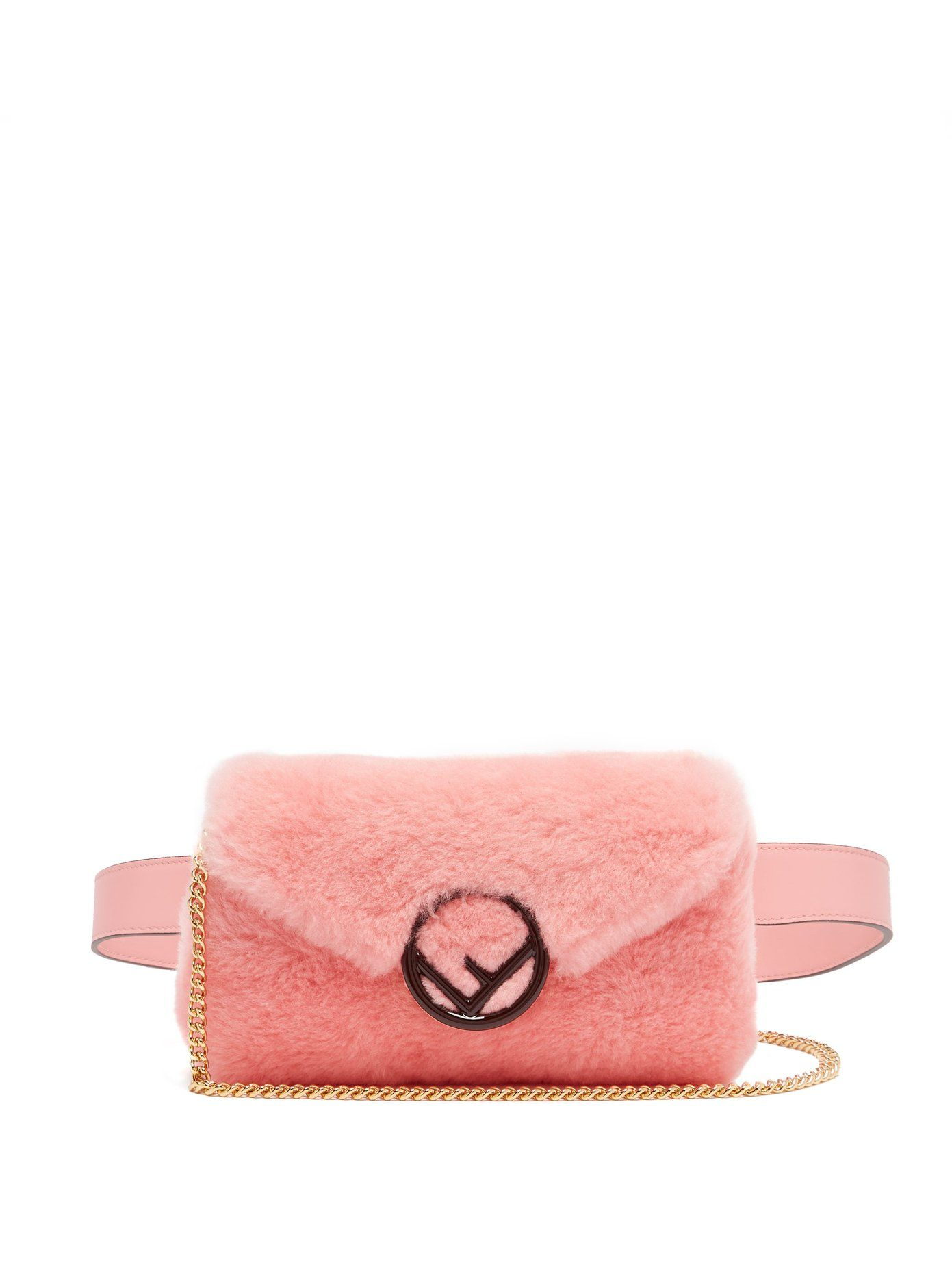 4a6c5c7e5c F is Fendi shearling belt bag