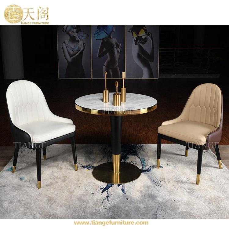 收藏到 Gold Stainless Steel Wood Restaurant Dining Chair