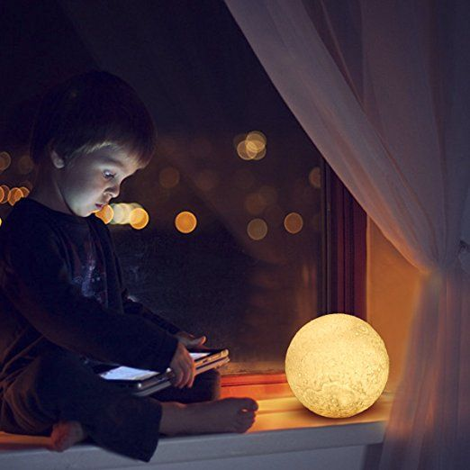 Amazonsmile Led Lunar Moon Night Light Lamp Greenclick 3d Luna Lamp Brings The Moon In My Room Smart Touch Con Night Light Night Light Lamp Light Decorations