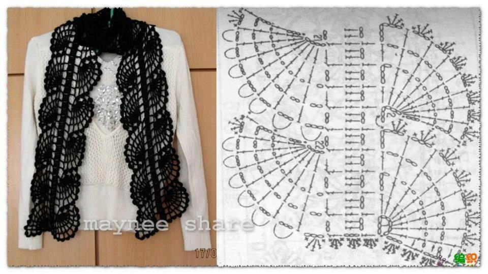 bufanda+de+ondas+de+crochet+patron.jpg 960×539 píxeles | Ganchillo ...