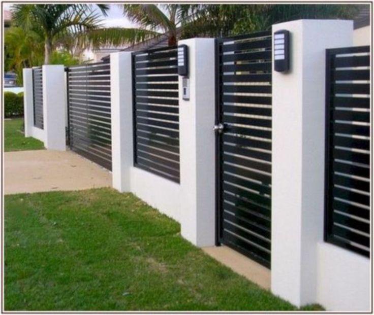 49 wunderschöne moderne Zaun-Design-Ideen, um Ihren schönen Hof zu verbessern #zaunideen