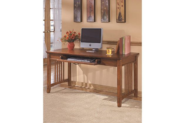 cross island 60 home office desk by ashley homestore brown rh in pinterest com