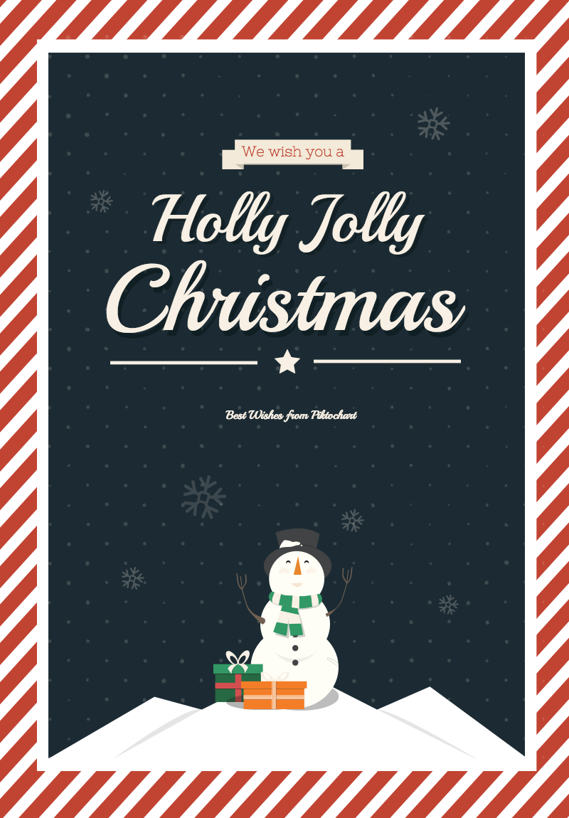 Use Our Free Christmas Poster Template And Light Up The