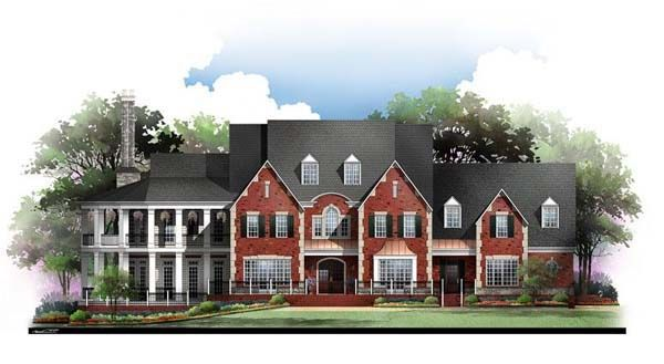 house plan 72127 colonial greek revival plan with 5745 sq ft 4 rh pinterest co uk