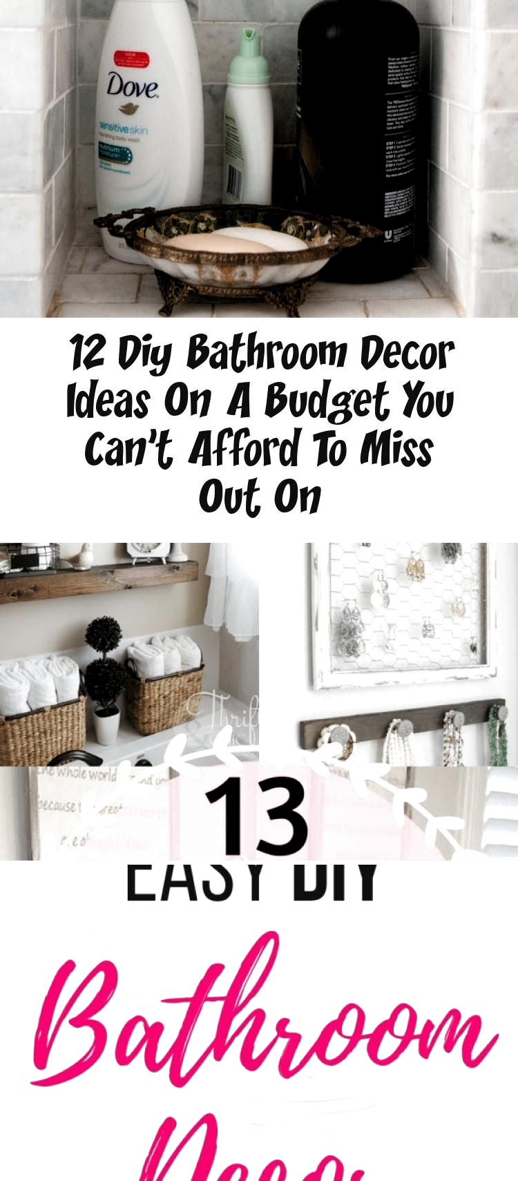Photo of DIY Bathroom Decor Ideas That Can Be Made With Cheap Dollar Stores Items! This …