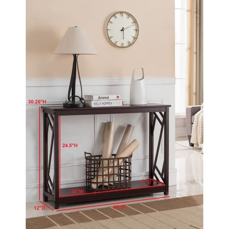 k and b furniture dark cherry wood entryway table overstock com rh pinterest com
